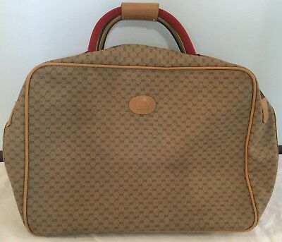 Gucci Vintage Overnight Carry Travel Bag