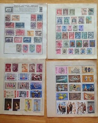 Siam Thailand old album pages 140 + stamps