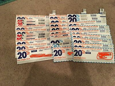Lot of 29 Bed Bath and Beyond 20% off one single item