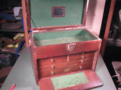 Old Used Vintage Machinist Tool Chest Solid Shape National