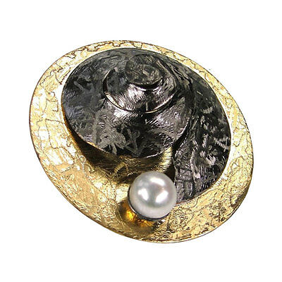 Polemis L73 ~ Sterling & Gold Plated Silver with Pearl Pendant