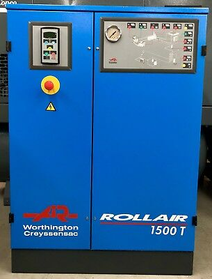 Worthington RLR1500T Rotary Screw Compressor With Dryer! 11Kw! 60Cfm Immaculate!