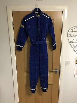 OMP Childs / small adult Blue size 40 KART INDOOR KART RACING OVERALLS