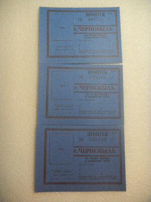 Chernobyl - Soviet Russian USSR  passes to the Chernobyl zone 1986 unused /1133/