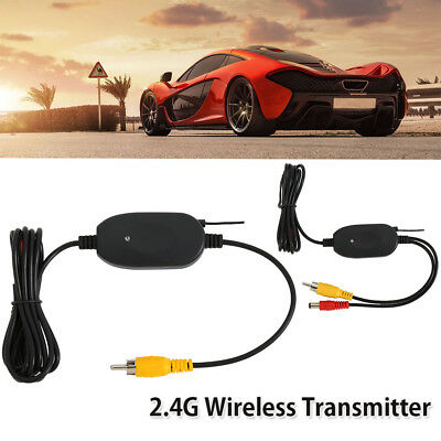 2.4G Wireless Video Transmitter Receiver for Car Rear Backup View Camera 12V .