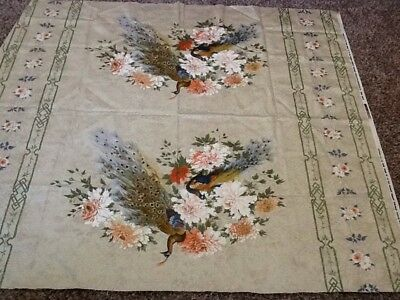 """Vintage 'FIFTH AVENUE DESIGNS' Fabric 51"""" By 56""""  NICE"""