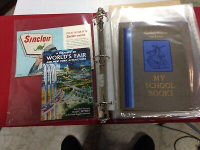 1964/65 New York Worlds Fair Paper Lot of 40 items.GM,Sinclair, Dupont, etc