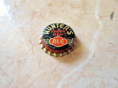 Scarce Hunters English Type Ale Cork Back Beer Bottle Cap Unused Chicago Il