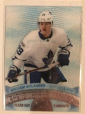 2017-2018 17-18 UD Upper Deck Tim Horton's Clear Cut Phenoms William Nylander SP