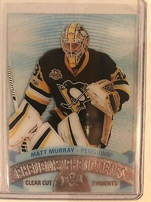 2017-2018 17-18 UD Upper Deck Tim Horton's Clear Cut Phenoms Matt Murray SP