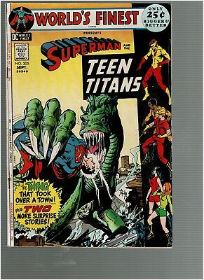 Worlds Finest 205 Superman Teen Titans 48 pgs Neal Adams cover F/VF