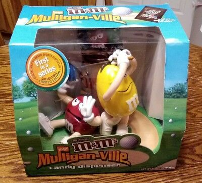New M&M's Mulligan-ville Candy Dispenser 1st in Series Golf Limited Edition
