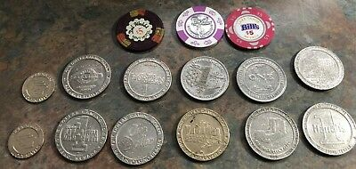 Silver Queen Imperial Palace Carson Station Slot Token Casino Coins Lot 15 Chips