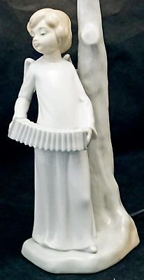 Nao by Lladro Working Lamp Winged Angel Figurine Playing the Accordion