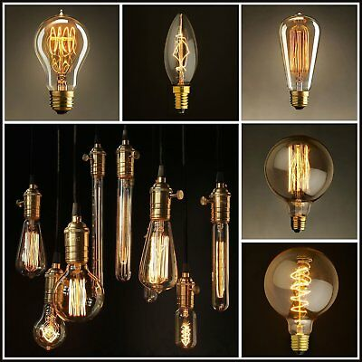 Edison Bulb Vintage Filament LED Light Bulb E27 Warm Yellow Light Home-Pu