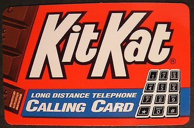 1995 KitKat Candy Bar 10 Minutes Phone Card - New / Unused / Expired Kit Kat