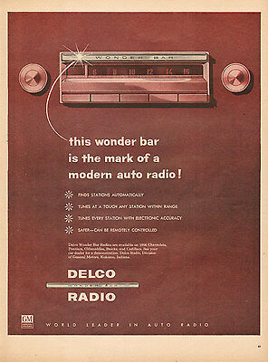 1955 vintage AD DELCO Auto Radios Wonder Bar auto station finder 072216