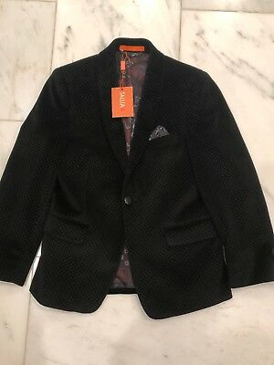 NEW TALLIA BLACK VELVET BLAZER - SZ 10, pindot velvet lined w/ pocket square