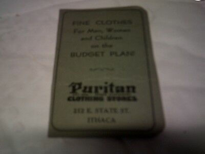 1800s Puritan Clothing Stores Advertising Ithaca NY Needlecase Giveaway
