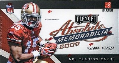 NFL trading card box 2009 Playoff Absolute Memorabilia Football  FACTORY SEALED!