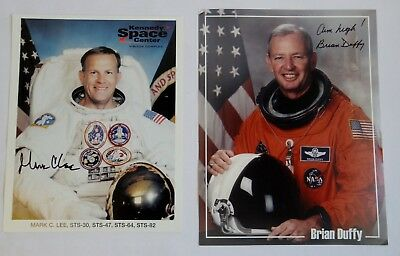 NASA Autographs Space Shuttle Astronauts Mark Lee and Brian Duffy