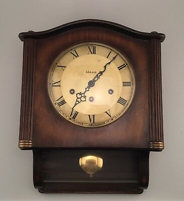 Heco Westminster Chime German Wall Clock Vintage