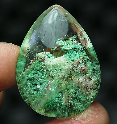 80ct Rare Clear Natural Ghost Crystal Quartz  Pendant Polished