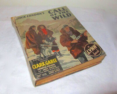 RARE! '35 'Call of the Wild' BOOK tie-in CLARK GABLE United Artists ZANUCK MOVIE