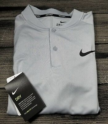 9de40792 Nwt Nike Men's Dry Momentum Fly Blade Golf Polo Sz M Light Grey 918678-012