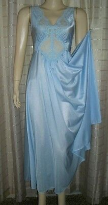 Olga Style Spandex Lace Bodice Full Sweep Long Gown Negligee by Miss Elaine S-M
