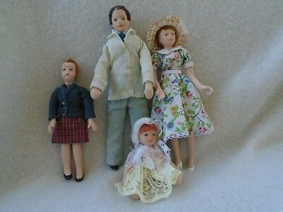 Dolls House Dolls/figures 4 Porcelain Dolls House Figures 12Th Scale Mixed Lot