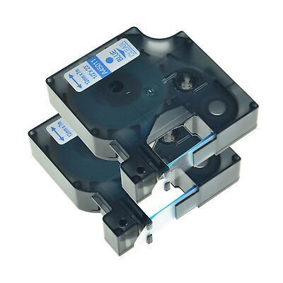 2PK 45011 Blue on Clear Label Tape Compatible With DYMO LabelManager 500TS 350D