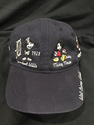 Walt Disney World baseball hat Mickey Mouse movies over the years excellent