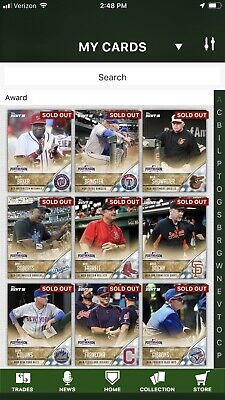 Topps Bunt Digital, Pick Any 9 Trade-able Cards 2014-2018, 100,000 Cards Avail.