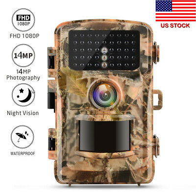 Campark Trail Camera 14MP 1080P Wildlife Scouting Hunting Night Vision IR LED US