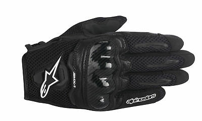 ALPINESTARS SMX-1 AIR Leather/Mesh Motorcycle Riding Gloves (Black) Choose Size