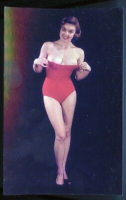 Risque Topless Old-fashioned Pinup Postcard 296