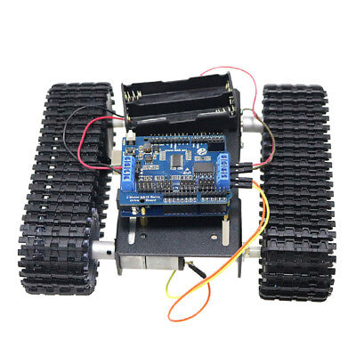 Obstacle Avoidance Shock Absorption Silver Robot Tank WiFi Car Chassis Kit