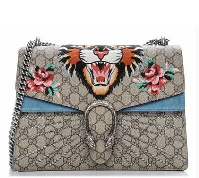 Authentic Gucci Angry Cat Dionysus With Crystals