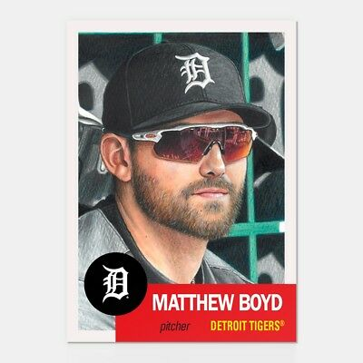 In hand...ready to ship!! 2018 Topps Living Set #129 MATTHEW BOYD FREE SHIPPING!