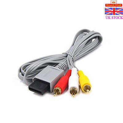 AV Lead Composite 3RCA Audio Video Cable TV Wire For Nintendo Wii /Wii U Game