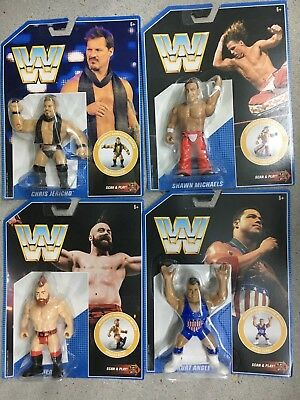 WWE Mattel COMPLETE SET Retro Figure Series 7 Michaels/Angle/Sheamus/Jericho