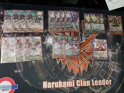 CFV Dragonic Vanquisher Complete Narukami Deck (Fully SP) Max Rarity + G-Zone