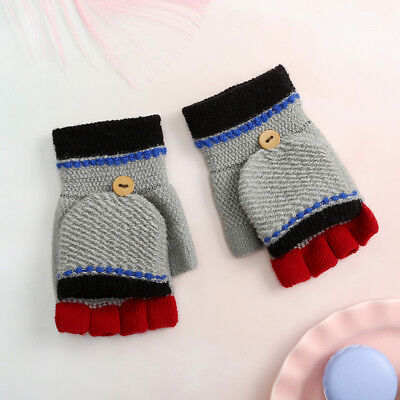 Children Kids Girls And Boys Winter Patchwork Keep Warm Mittens Gloves