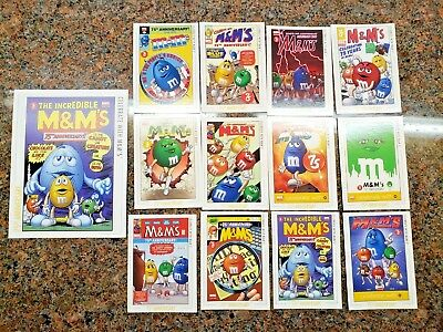 M&M's 75th Anniversary Marvel Collector 12 Cards + BIG Card NYCC SDCC M & M 2016