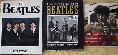 ♫ THE BEATLES  3 great books - OOP -  good condition - lot 13 ♫