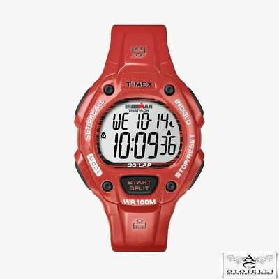 6614a495a355 Timex Orologio Unisex Digitale Rosso T5K686 Ironman 30 Lap Running Watch  Indiglo