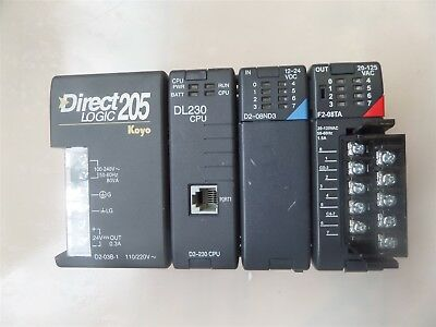 Direct Logic 205 Koyo with DL230, D2-08ND3, F2-08TA Modules