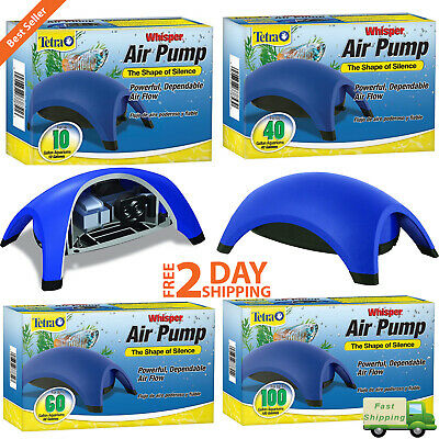 Tetra Whisper Quiet Powerful Air Pump Flow Water Fish Tank System For Aquariums