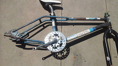 old school Haro freestyler bmx frame fusion cranks lay back pole 1988 fc
